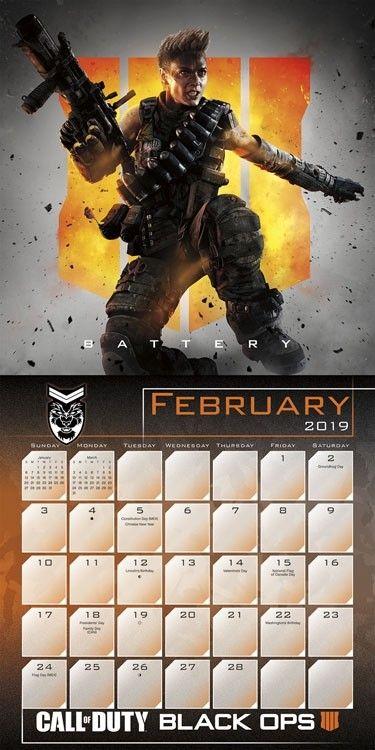 Gaming Calendar 2019 Call of Duty #dateworks #calendars #2019 #planning #callofduty