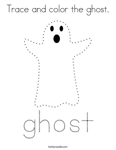 Trace And Color The Ghost Coloring Page Twisty Noodle Halloween Preschool Halloween Classroom Easy Halloween Crafts