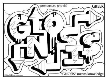Gnostic graffiti Gnosis Greek Graffiti K 8 ART Pinterest