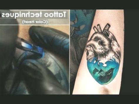 Tattoo Techniques How To Line And Shading Close Up Process Color Heart Fu Mit Bildern Tatowieren Tatowierungen Schattierungen