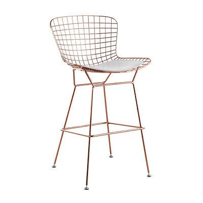 Wire Counter Stool Wireback Mid Century Modern Mesh Kitchen Stool Rose Gold Home Bar Furniture Bar Stools Kitchen Bar Stools