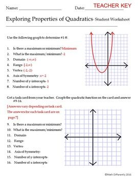 5 Graphing Quadratic Functions Worksheet Answers Algebra 2 In 2020
