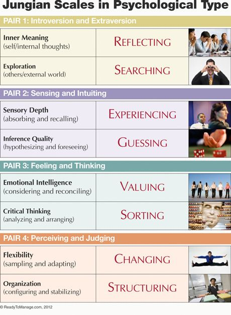What type are you on the Myers-Briggs? Jungian scales in
