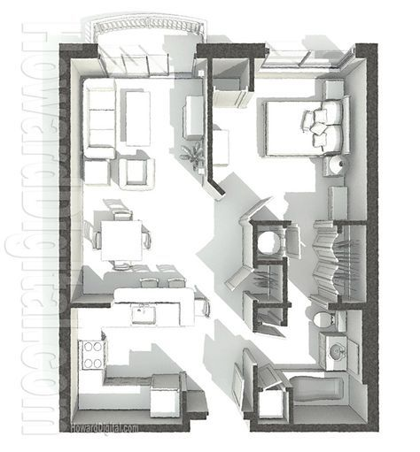 Home Rendering Pci Dorm Floor Plan 1 Home Series Architectural Floor Plans Floor Plans Interior Design Presentation