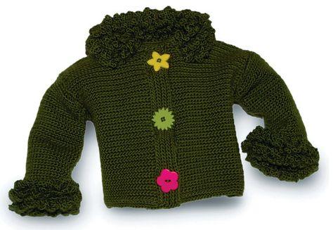 Girls crochet sweater pattern girls crochet by pattydavisdesigns $8