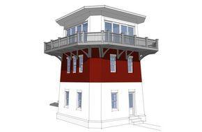 Lighthouse Cabin Plan Strange But I Kinda Like It House Plans Small House Plans Tiny House Plans