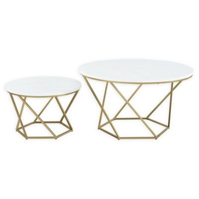 Forest Gate Olivia Modern Geometric Nesting Coffee Table Set