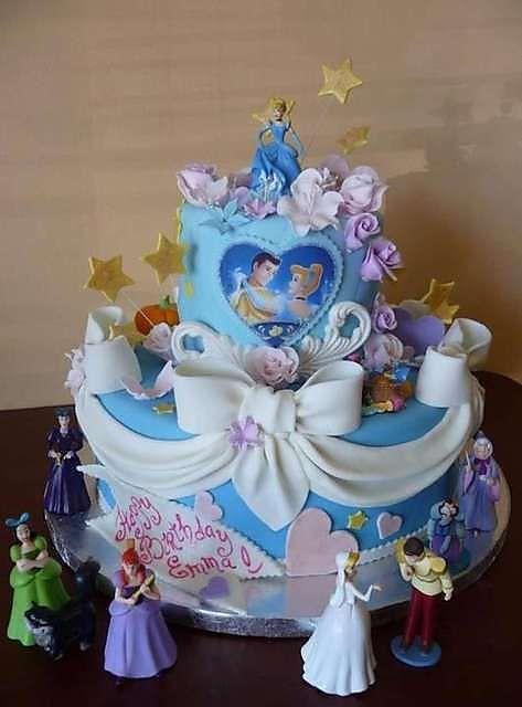 Disney Princess Themed Birthday Cake From Roscoe Bakery In Los Angeles Cakedesign Cakedecorating