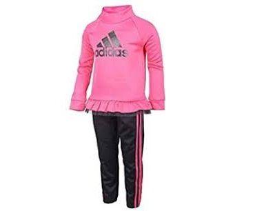 Adidas Girl's Jacket & Pant Set. Winter Collection