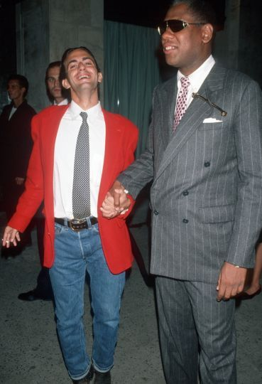 Andre Leon Talley with Marc Jacobs in