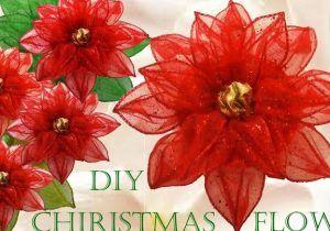 Flores Navidad Flor De Noche Buena Flor De Navidad Cómo Hacer Moños Navideños