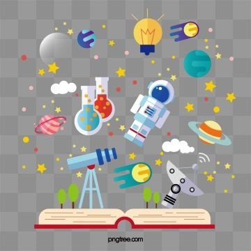 Cartoon Book Reading Universe Aerospace World, World, Wonderful, Magic PNG and Vector with Transparent Background for Free Download