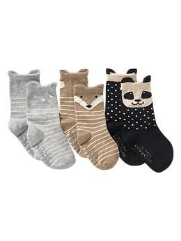 Animal socks (3-pack)   Gap