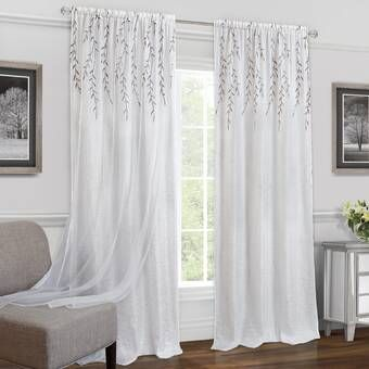 Ophelia Co Clarkstown Solid Sheer Rod Pocket Curtain Panel Reviews Wayfair White Paneling Panel Curtains Drapes Curtains