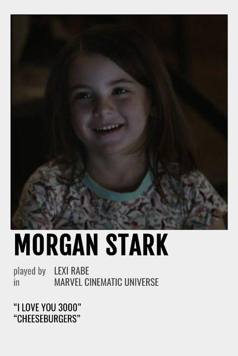 Morgan Stark Polaroid Poster