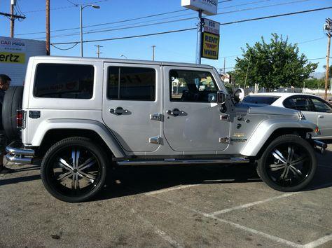 208 Wrangler On 24 Inch Strada Vetro Jeep Wrangler Jeep Jeep Wrangler Sahara