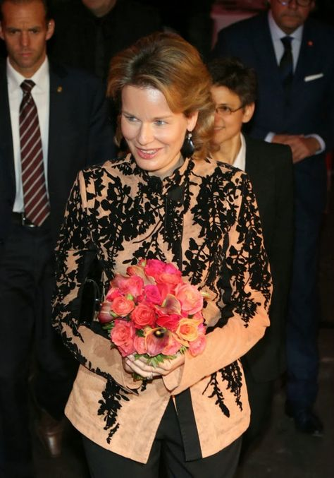Queen Mathilde attended the 'Fashion Talks Get Inspired' event in Antwerpen