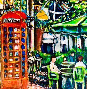Dining Alfresco Painting Savannah Kimberly Dawn Roots Up Gallery Jpeg Folk Art Art Art Forms