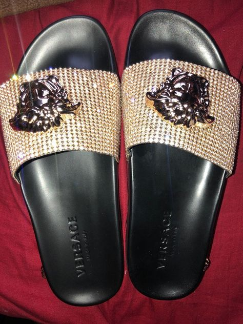 df436c25714d5 Versace Crystal Gold Medusa Head Sandles Slides  fashion  clothing  shoes   accessories  mensshoes  sandals (ebay link)