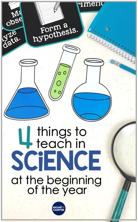 Science teaching ideas for the beginning of the year- This teacher shares what to teach as well as fun science activities that introduce science and lay the foundation for future science lessons in second and third grade. During the first days of school, Science Lesson Plans, Science Activities For Kids, Science Curriculum, Preschool Science, Science Resources, Teaching Science, Science Education, Teaching Ideas, Science Experiments