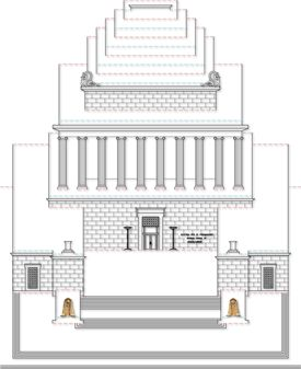 Popup Architecture Template Template 1 For Building The Exterior Of The House Of The Temple Pop Cartes Projets A Essayer