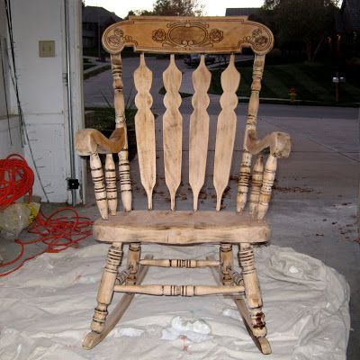 Chairs Refinishing A Rocking Chair Between3sisters Old Rocking Chairs Diy Rocking Chair Rocking Chair