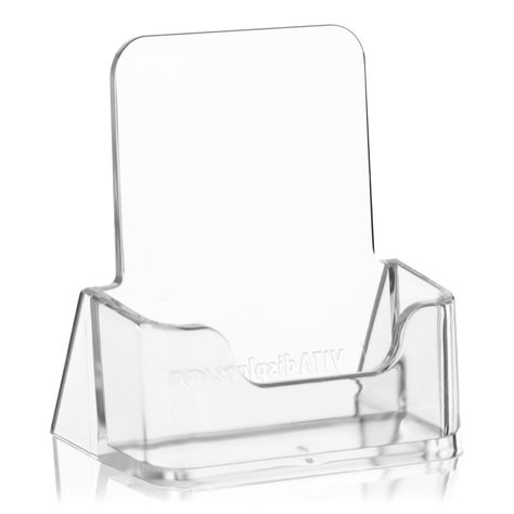 Visitenkartenhalter Hochformat Glasklarer