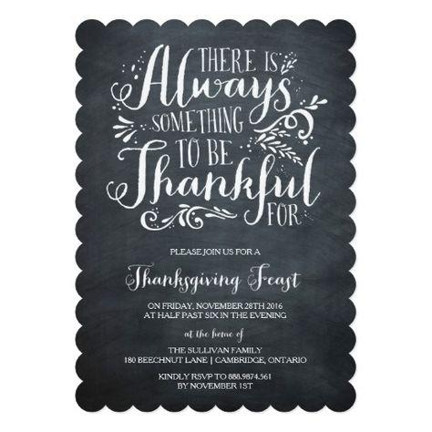 Always Thankful | Rustic Thanksgiving Invitation