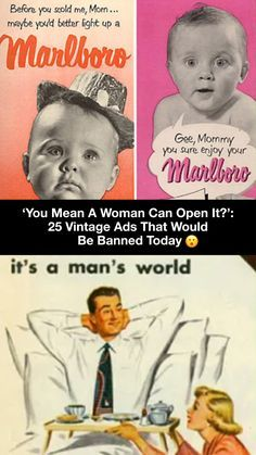2019. We've come so far in the fight for equality. But back in the day, it was far from the case. These vintage ads'll prove it to ya...