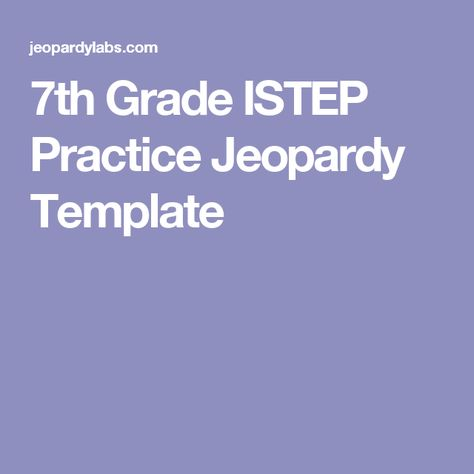 7th Grade Istep Practice Jeopardy Template Math Cl Practices
