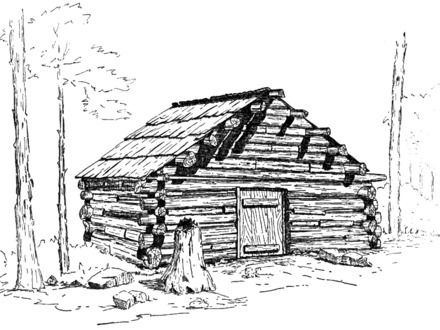 Mountain Cabin Line Drawing Cabin By Stream Drawings Cabin Mountain Cabin Log Cabin