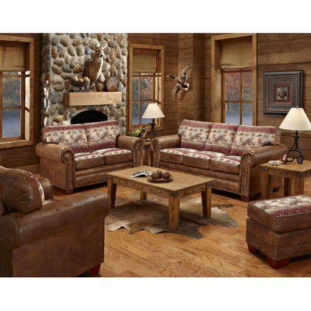 Home Rustic Living Room Furniture 4 Piece Living Room Set
