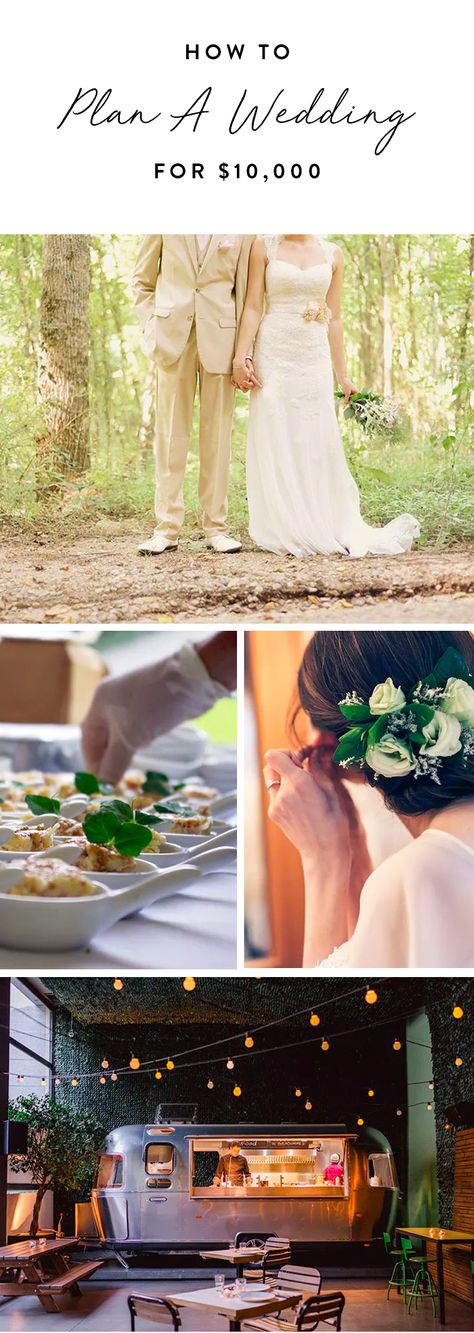 How to Plan a Wedding for $10,000 #purewow #wedding #budget #weddingplanner #DIY