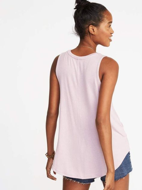 263f60f478 Luxe Soft-Spun High-Neck Swing Tank for Women | awesome clothes ...