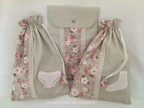 Conjunto de bolsas de tela