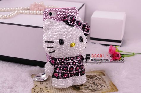 3D Hello Kitty Leopard Print IPhone 5 Case