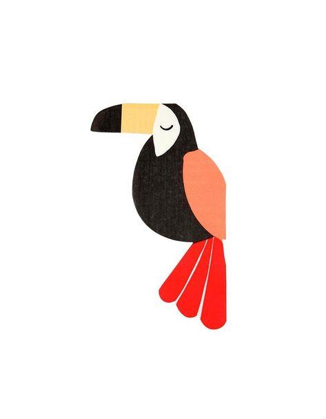 Napkin  taste for kindergarten toucans and owls