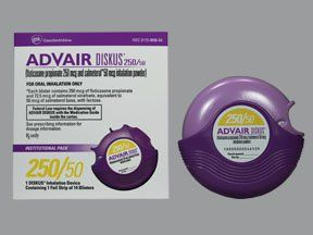 Advair Diskus 250 Mcg 50 Mcg Dose Powder For Inhalation Inhaler Prescription Medical Information