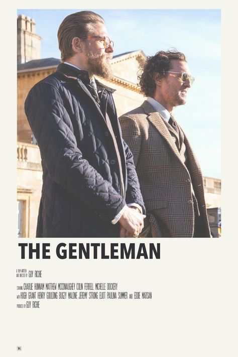 alternative minimalist movie polaroid poster: the gentleman by priya