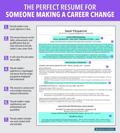 17 Best images about Resume Samples on Pinterest Physical - career change resume sample