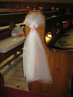 Ideas for decorating church pews for wedding image collections simple elegant flowers colored bows can be added to this basic flowers colored bows can be wedding pew decorations junglespirit Choice Image
