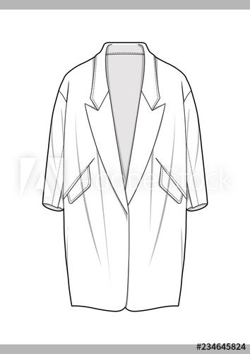 OUTER Fashion technical drawings flat Sketches vector template Stock Vector