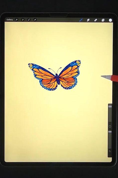 Software Art, Free Brushes, Cat Tattoos, Butterfly Drawing, Ipad Art, Digital Art Tutorial, Digital Paintings, Pink Aesthetic, Drawing Tips