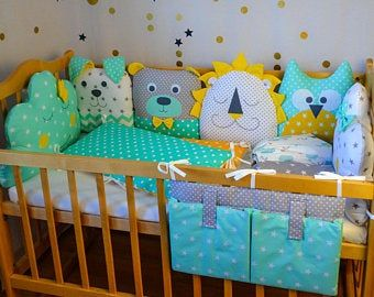 Crib Bumpers Baby Bed Bumper Crib Bedding Baby Bedding Etsy In 2020 Bumper Pads For Cribs Bed Bumpers Baby Bedding Sets