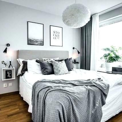 mint grey white bedroom | Minimalist home decor, Home decor ...