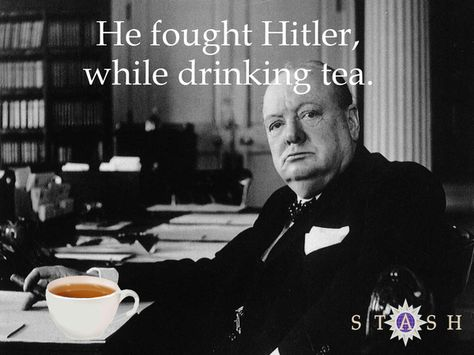 Stash Tea by Joe Manzari, via Behance. An homage to Winston Churchill.