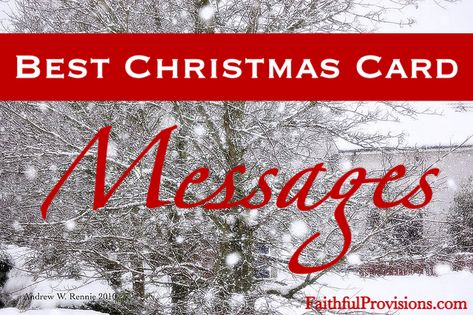 Christmas Card Messages - 25 Different Message Ideas for your Christmas Cards