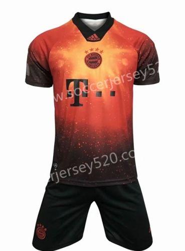 2018 19 Bayern Munchen Orange Soccer Uniform Bayern Soccer Uniforms Soccer Jersey