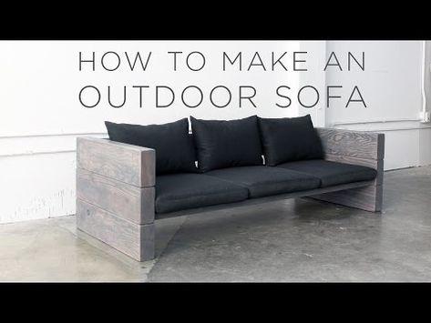 Lounge sofa outdoor selber bauen  How to Build a Sleek Outdoor Sofa for Cheap | Rustic outdoor sofas ...