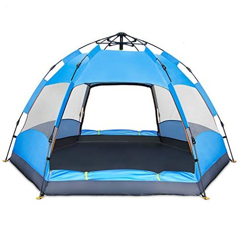 BATTOP 4 Person Tent for Camping Double Layer Family Camping Tent for 4 Seasons